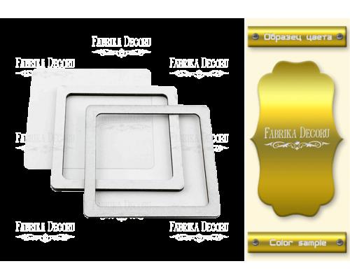 """Заготовка для шейкера """"Квадрат-2"""" 7,5x7,5 color_Gold"""