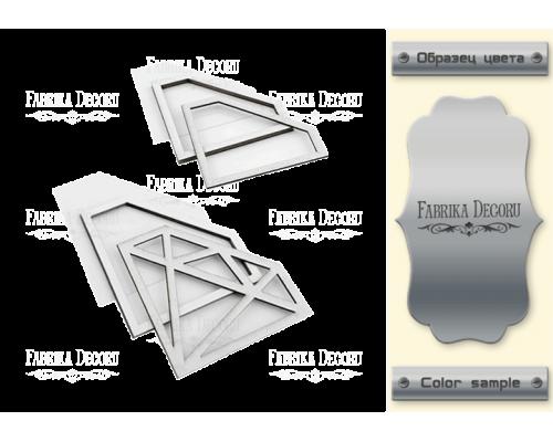 """Набор заготовок для шейкеров """"Кристаллы"""" 10x7,3-8,4x6 color_Silver"""