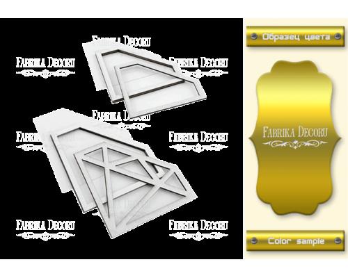 """Набор заготовок для шейкеров """"Кристаллы"""" 10x7,3-8,4x6 color_Gold"""