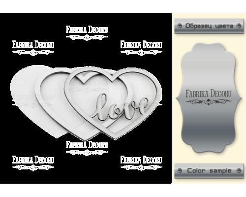 """Заготовка для шейкера """"Любовь в сердце"""" 11x9,5 color_Silver"""