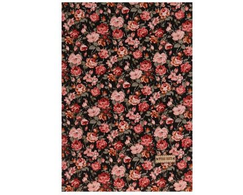 Ткань на клеевой основе «Яркий сад», 21 х 30 см