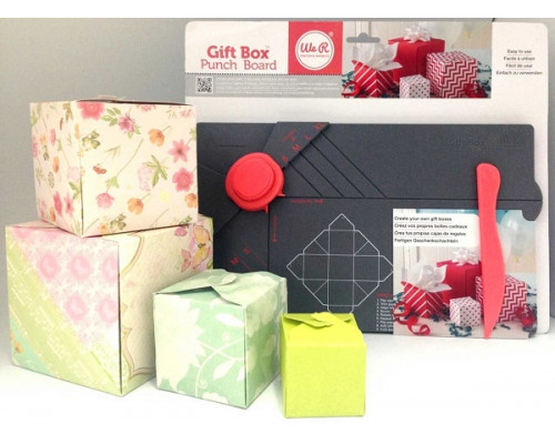 Доска для создания подарочных коробочек Gift Box Punch Board, We R Memory Keepers, 71334-0