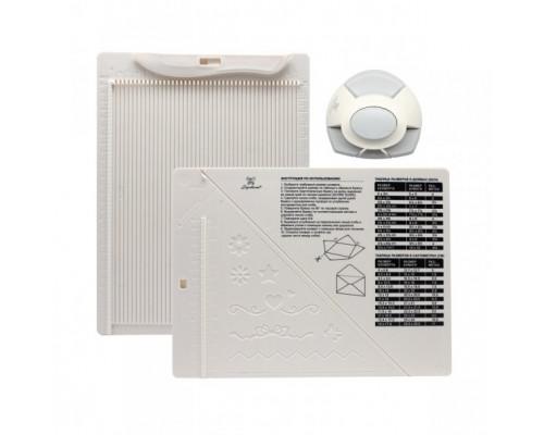 Доска для создания конвертов и открыток в комплекте с дыроколом угла, DDB-K01
