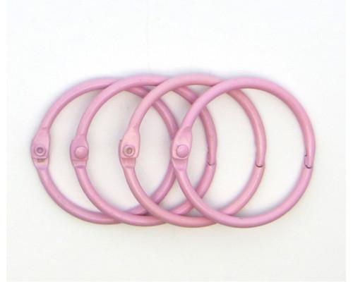 Кольца для альбомов, розовые 30 мм