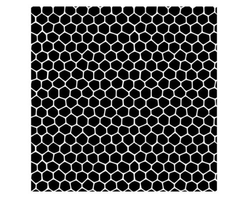 Трафарет Соты 15,2*15,2см толщина 0,15мм SCB53100013