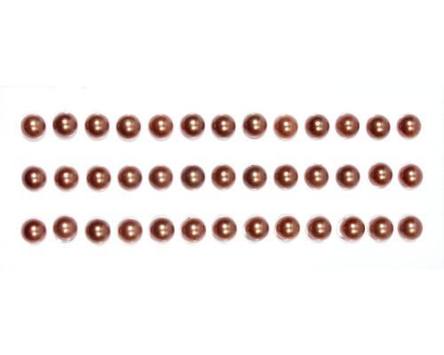 Полужемчужинки клеевые коричневые SCB25021069