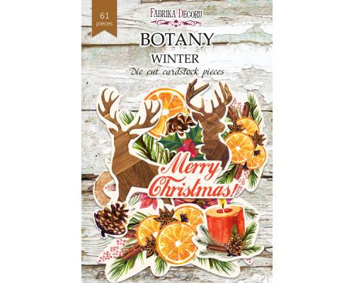 """Набор высечек, коллекция """"Botany winter"""", 61шт"""