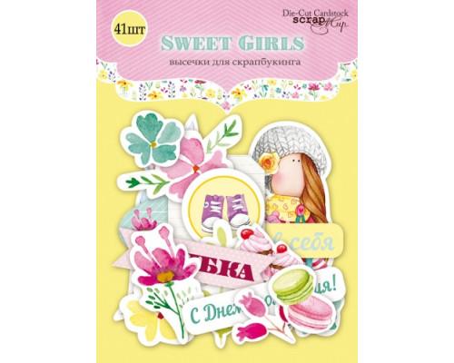 Набор высечек для скрапбукинга 41шт Sweet Girls