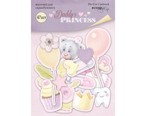 Набор высечек для скрапбукинга 47шт Daddy's Princess