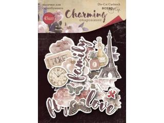 Набор высечек для скрапбукинга 45шт Charming (Очарование)