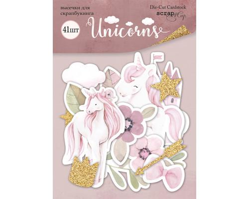 Набор высечек для скрапбукинга 41шт от Scrapmir Unicorns