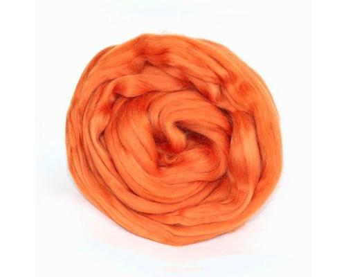 """Шерсть для валяния """"Камтекс"""", цвет 035 оранжевый"""