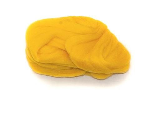"""Шерсть для валяния """"Камтекс"""", цвет 104 желтый"""
