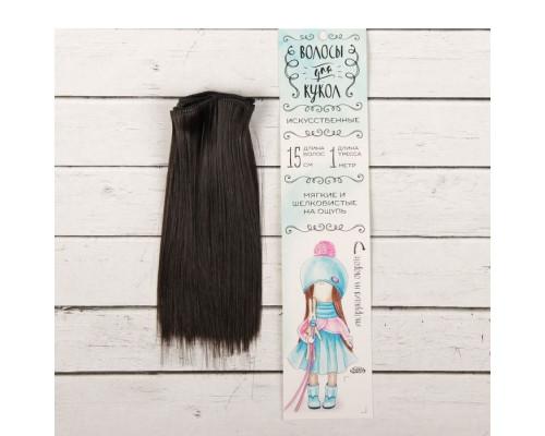 Волосы - тресс для кукол «Прямые» длина волос: 15 см, цвет № 4В
