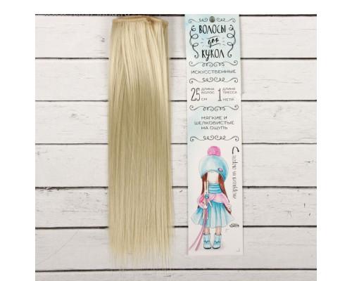 """Волосы - тресс для кукол """"Прямые"""" длина волос 25 см, цвет № 88"""