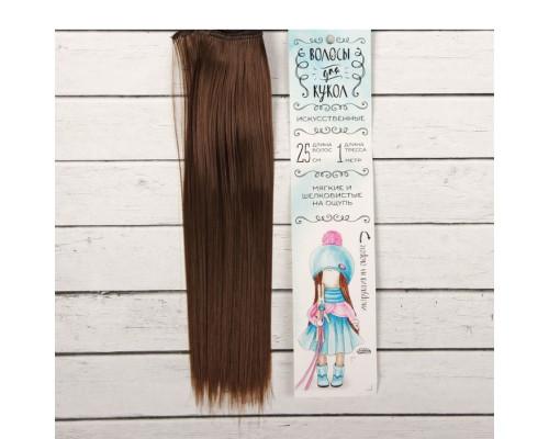 Волосы - тресс для кукол «Прямые» длина волос-25 см, цвет № 8В