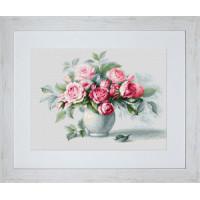 """Набор для вышивки """"Этюд с чайными розами"""" B2280"""