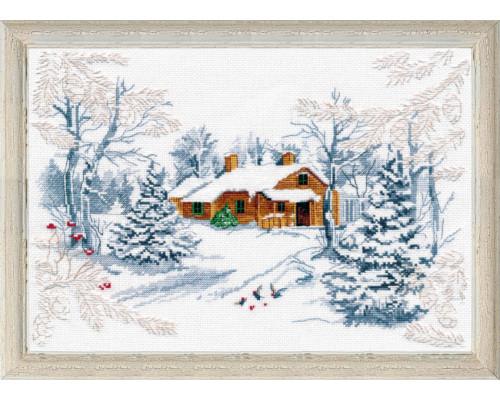 """Набор для вышивки крестом """"Сказка зимнего леса"""""""