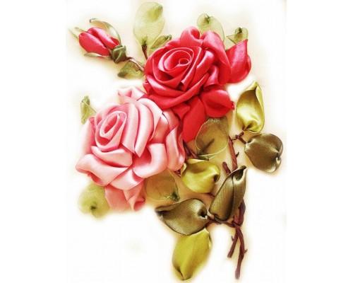 """Набор для вышивки лентами """"Розы"""", VL007"""